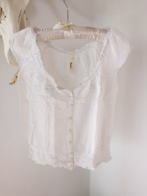 weiße kurze Bluse von Pepe Jeans