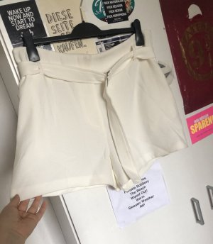New Look Short taille haute blanc