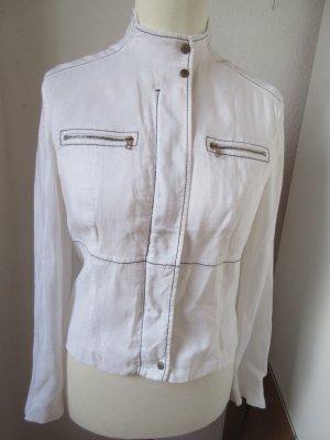 Weiße kurze Jacke