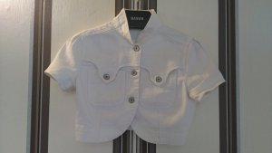Weiße, kurze Jeansjacke der Marke Mango in Größe 36/38