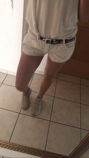 Weiße kurze Short von H&M 36 hotpants spitze