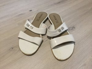 Sandalo infradito bianco Pelle