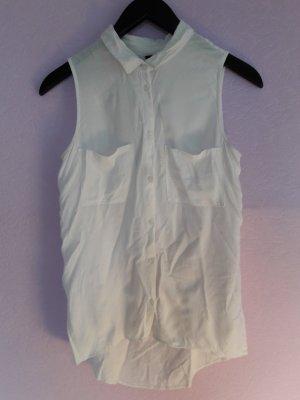 H&M Blouse sans manche blanc viscose