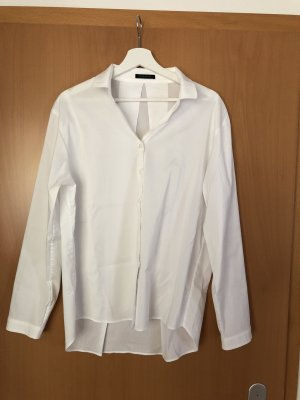 Weiße langärmelige Bluse - hinten länger