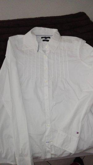 Weiße Langarm Bluse vom Hilfiger
