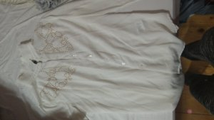 weiße langarmbluse XS