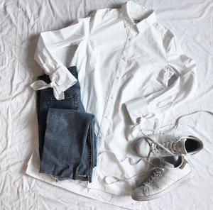 Weiße lange Bluse M EDITED