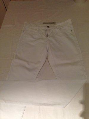 Weiße lange Skinny Hose