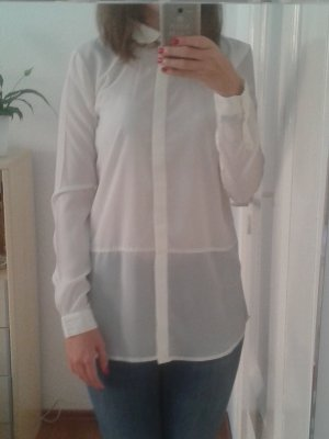Weiße Layer-Look Basic-Bluse