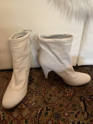 weiße Leder Boots / Fornarina Italy