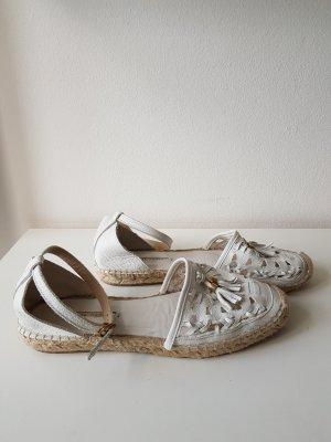 Weiße Leder Espandrilles