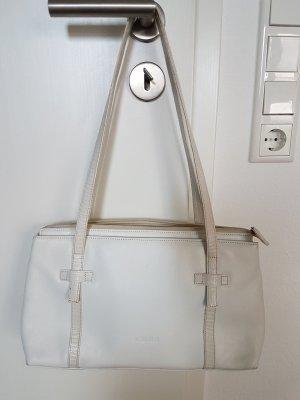 Weiße Lederhandtasche Medici