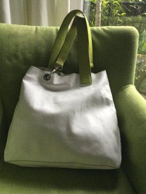 Weiße Lederhandtasche von Coccinelle