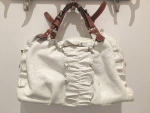 weiße Lederhandtasche von ETRO