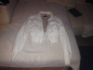 Weiße Lederjacke von Fishbone, New Yorker