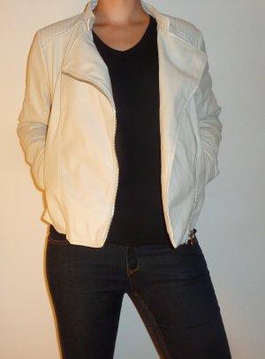 Weiße Lederjacke von Vero Moda