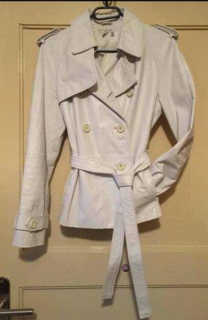 weiße Lederjacke von Zara Basic, Gr. M