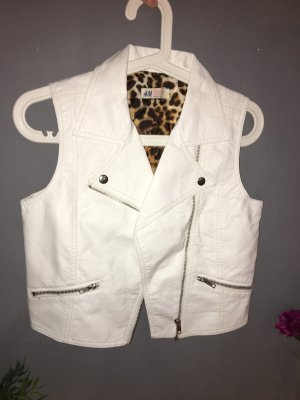 H&M Leather Vest white-natural white