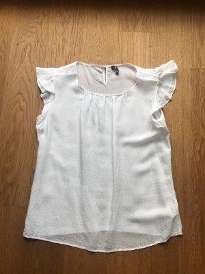 Weiße leicht transparente Bluse von Jake's Größe 38