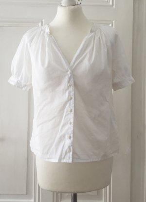 Weiße leicht transparente Bluse von Mexx mit Puffärmeln