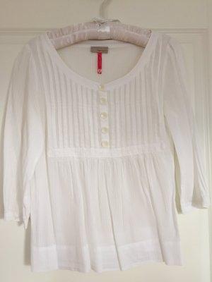 weiße, leicht transparente Tunikabluse