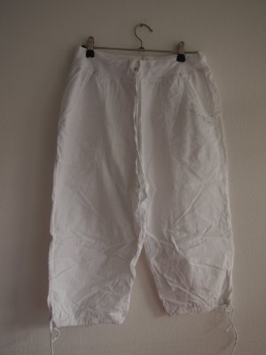 3/4 Length Trousers white cotton