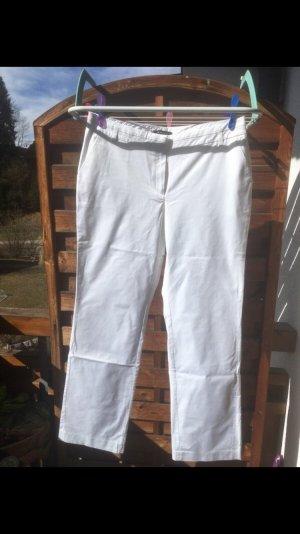Weiße leichte Anzughose