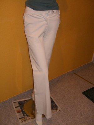 Weiße leichte Sommerhose, Gr. 36 38