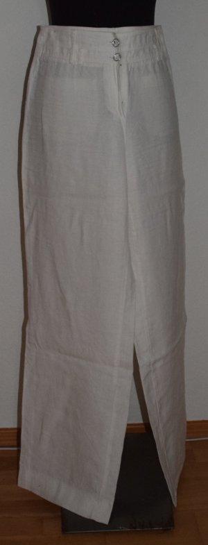 Weiße Leinen Hose