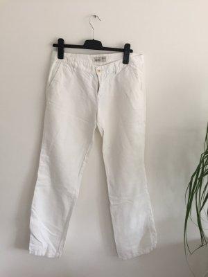 Weiße Leinen Hose von Esprit Größe 38