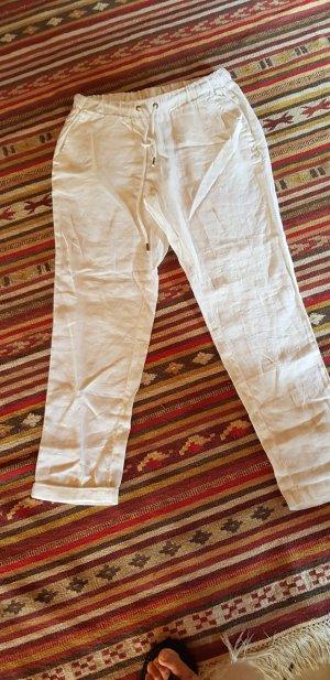 weiße Leinen-Hose von H&M neu