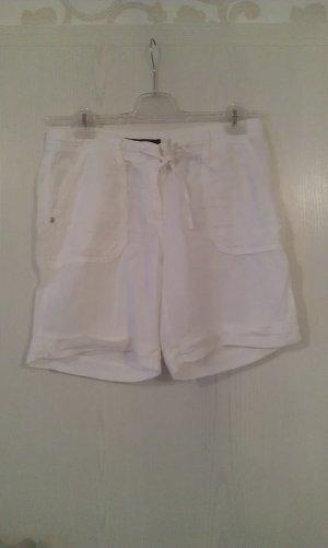 weiße Leinen Shorts von Hallhuber in Größe 38 !