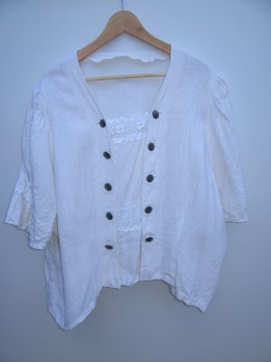 Vintage Blusa folclórica blanco