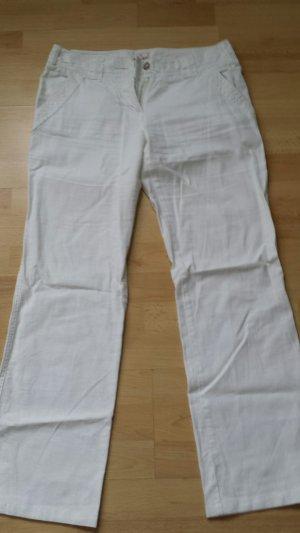 Weiße Leinenhose 34/34