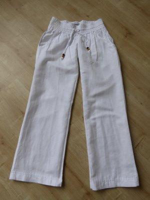 Zara Pantalon en lin blanc lin