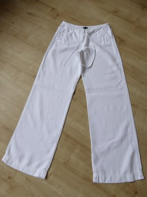 weiße Leinenhose mit Zugband *** N E U ***