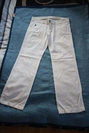 Edc Esprit Linen Pants white linen