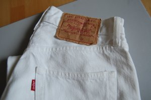 Weiße Levi's Jeans, Vintage