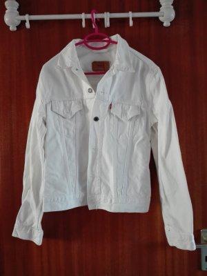 weiße Levi's Jeansjacke