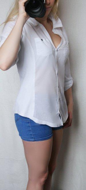 Weiße Longbluse, Orsay, Größe 38, sehr guter Zustand
