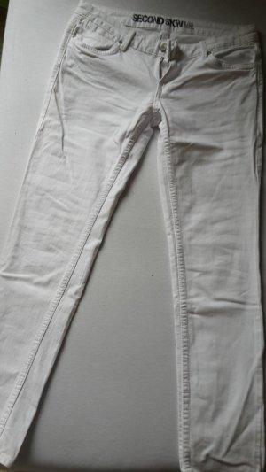 Weiße Low Waist Jeans