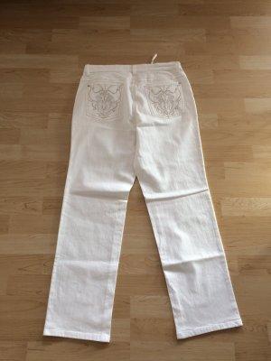 Weiße Madeleine Jeans