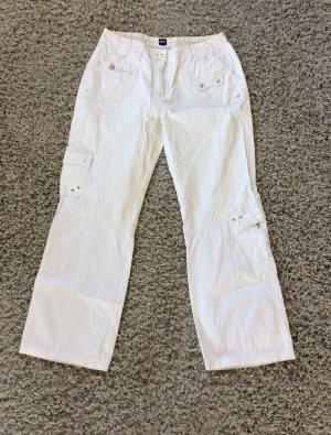 Cecil Pantalone cargo bianco Cotone