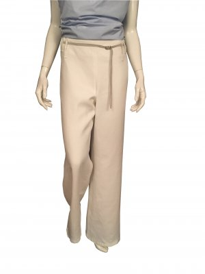 Toni Gard Marlene Trousers white-light grey linen