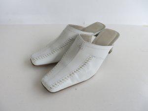 Weiße Minozzi Pantolette