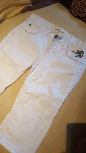 weiße Mogul Capri Jeans Hose W31 30