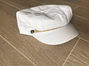 Weiße Mütze - Ballonmütze