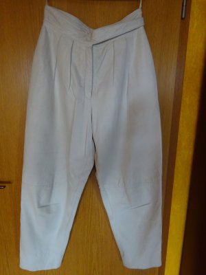 weiße Nappalederhose, gut wärmend