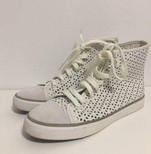 weiße neue Sneaker von Tory Bruch