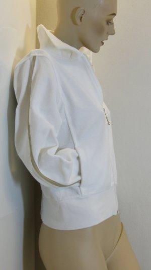 Boysen's Chaqueta de tela de sudadera blanco tejido mezclado